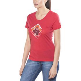 Meru Enköping Camiseta Lana Manga Corta Mujer, barbardos cherry